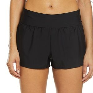 NEW Reebok Women's Zipper Pocket Swim Shorts